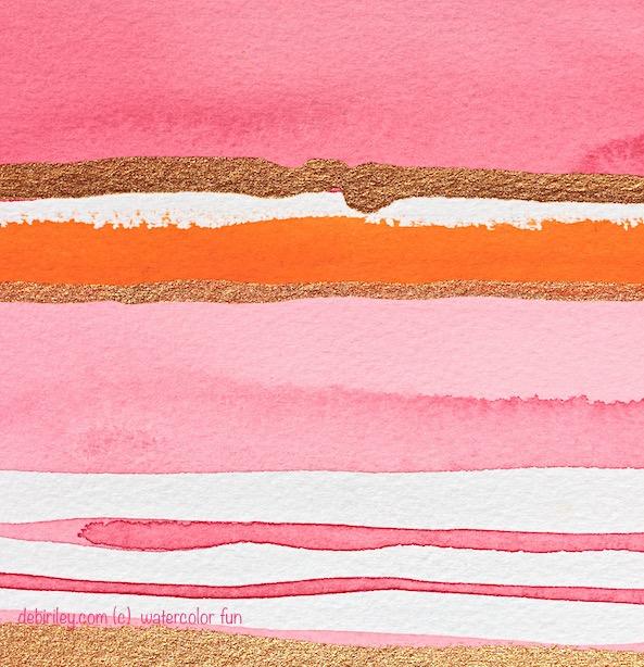 watercolor abstract, rose colors, debiriley.com