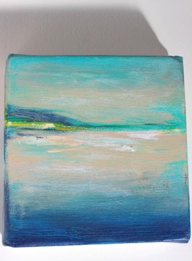 cobalt teal blue pg 50, acrylic seascape, work in progress, debiriley.com