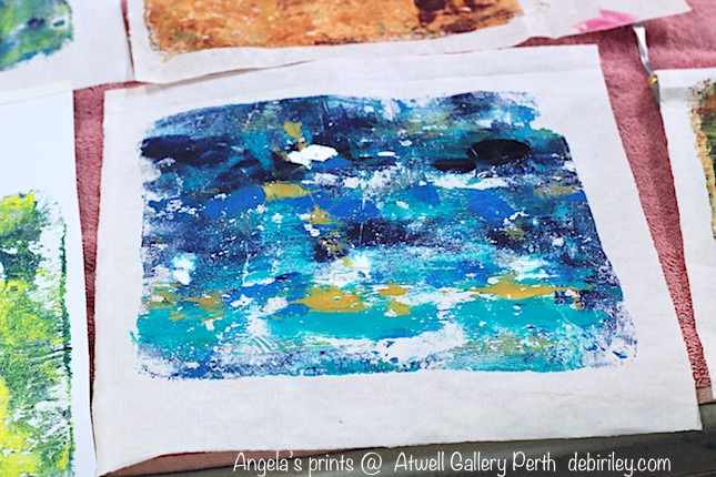 printing with gelli plate, debiriley.com, Atwell art classes Perth,