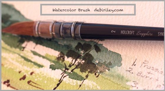 watercolor brushes, art materials, comparing watercolour brushes, debiriley.com