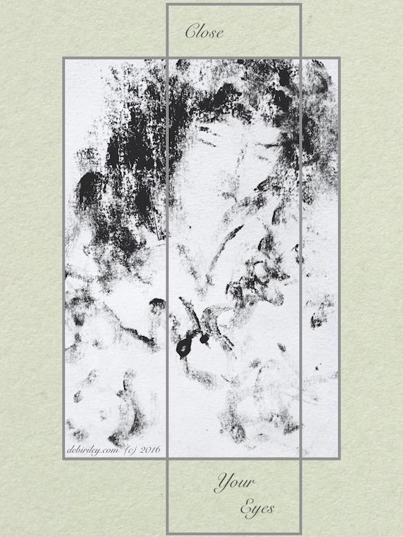 monotype painting, woman, calmness, debiriley.com