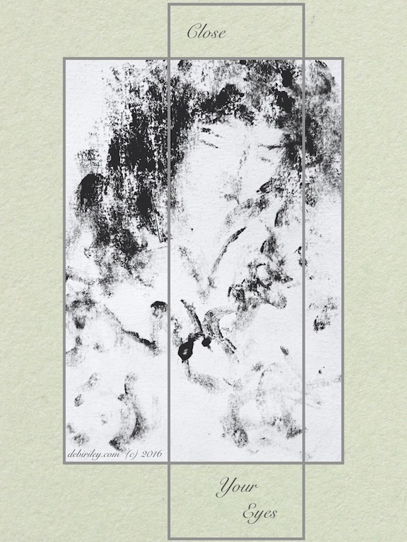 monotype painting, woman, calmness, debiriley.com