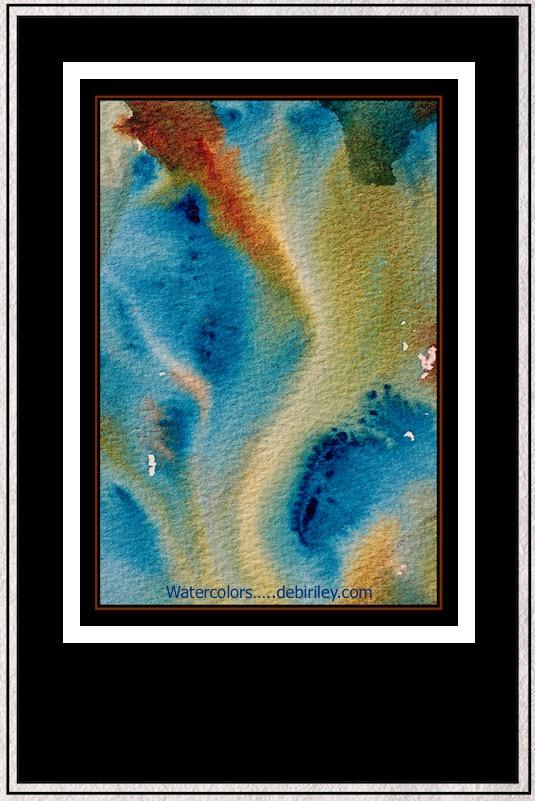 watercolor mixing techniques, wet in wet technique, mixing greens, debiriley.com