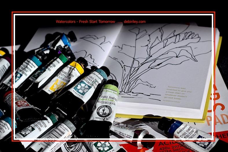 watercolor, mistakes, tomorrow is a fresh start, love, debiriley.com