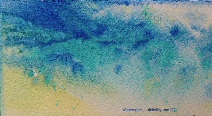 bright, vibrant watercolor mixes, cobalt teal blue, ultramarine blue pb29, debiriley.com