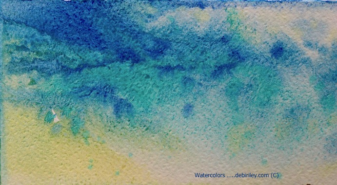 bright, vibrant watercolor mixes, cobalt teal blue, ultramarine blue pb29, debiriley.com