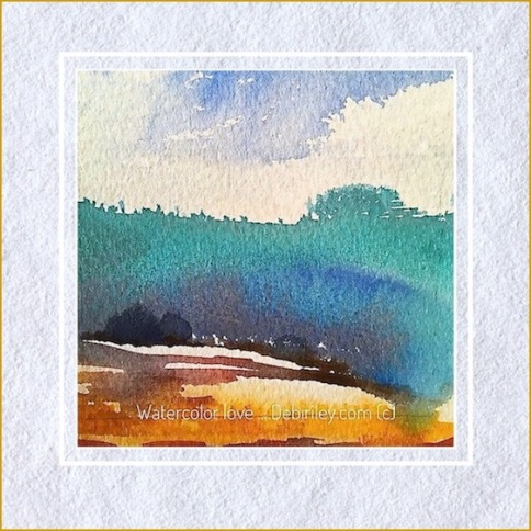 bright colorful impressionist landscapes, color as a lure, watercolor clouds, painting what you love, debiriley.com