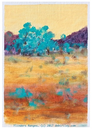 impressionist oil landscapes, colorful landscape paintings, Flinders ranges, art trips are fun!, debiriley.com