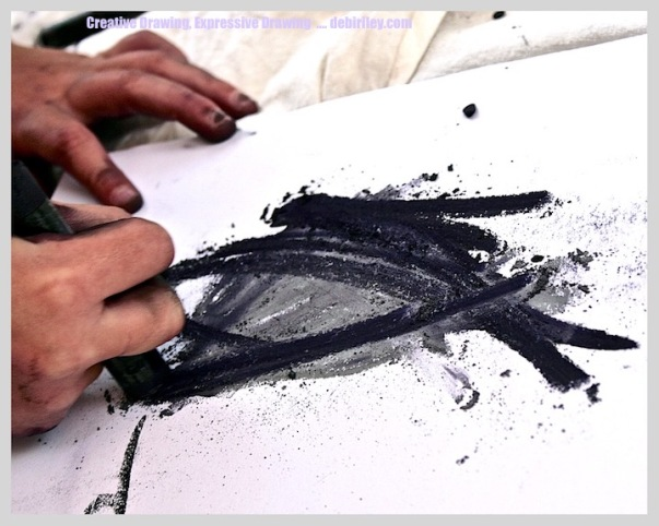 draw like a child, creative drawing, drawing with creativity and imagination, debiriley.com