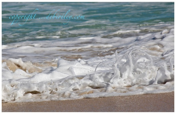 sea foam at the beach, photography nature, debiriley.com
