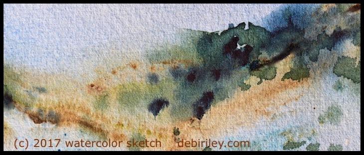 impressionist waqtercolor landscape sketches, watercolor outdoors, debiriley.com