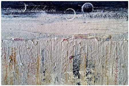 brushmarks in layers, acrylic abstract in neutral palette, debiriley.com