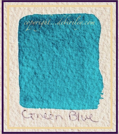 purple moonstone, cobalt teal blue, gold ochre, color triad watercolors, color palette, debiriley.com