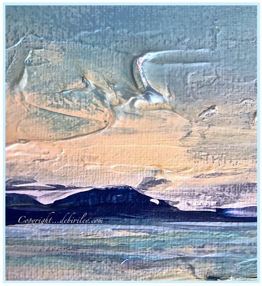 acrylic impressionist seascape painting, palette knife art, debiriley.com