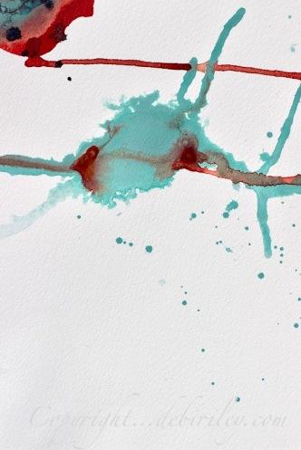 watercolor abstract simplicity, light red, debiriley.com