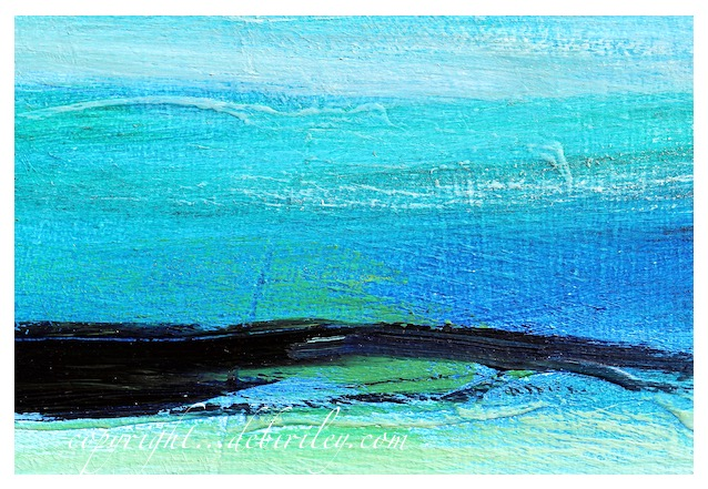 abstract blue in oils, debiriley.com