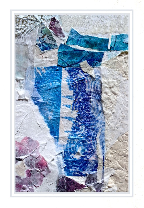tearing papers, collage, mixed media, work in progress, wabi sabi imperfections, debiriley.com