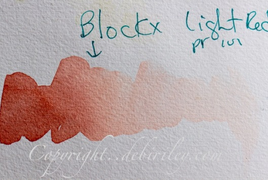 Blockx watercolor Light red, debiriley.com