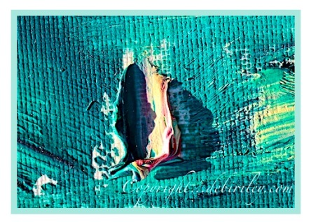 dollops of oil paint filled with texture, creating contrast in paintings, green oil paints, debiriley.com