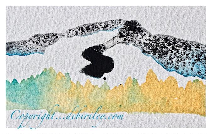 watercolor mixing, lunar black mixes, naples yellow daniel smith watercolor, prussian blue pb27, debiriley.com