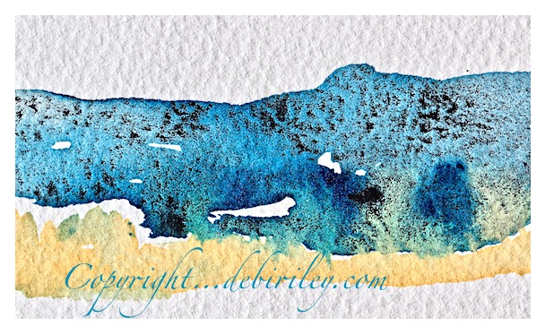watercolor mixing, test strips, lunar black, prussian blue pb27, daniel smith naples yellow, debiriley.com