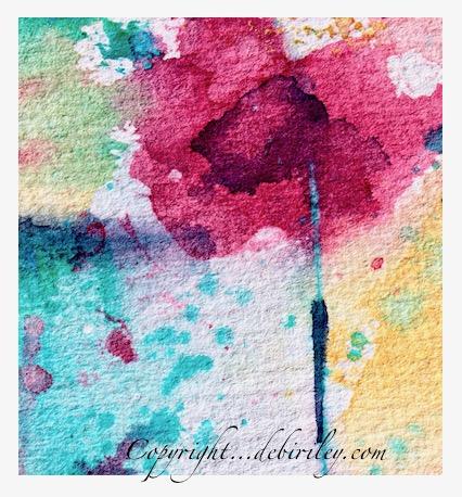 pop of color, watercolor flower, abstract flower, debiriley.com