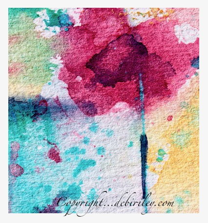 pop of color, watercolor flower, abstract flower, debiriley.com