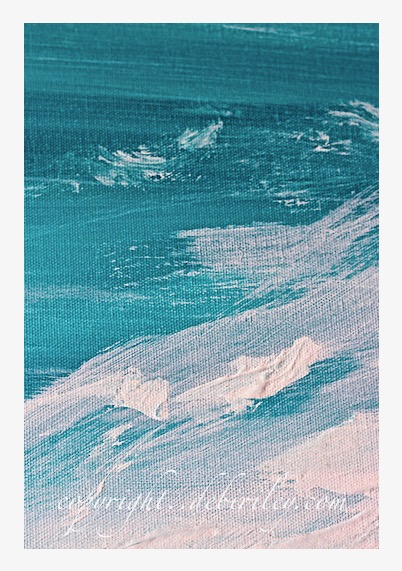 acrylic abstract seashore, turquoise waters abstract, debiriley.com
