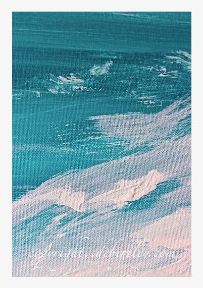 acrylic abstract seashore, turquoise waters abstract, debiriley.com