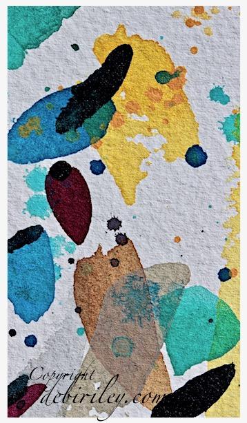 watercolor test strips, color mixing, debiriley.com