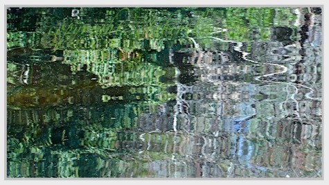 zen in greens, sparking the imagination, oil abstract beginnings, debiriley.com