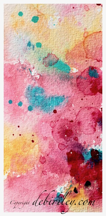 watercolor abstract floral, bright colorful watercolor, debiriley.com