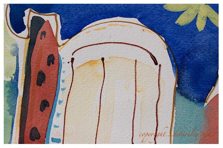 #worldwatercolormonth, ultramarine blue pb29, abstract art, debiriley.com
