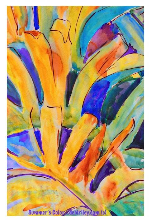 watercolor beginners painting, #worldwatercolormonth, art is fun, debiriley.com