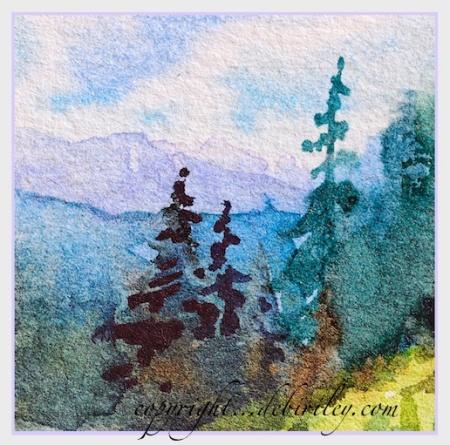 best watercolor tree techniques, beginner watercolor trees, debi riley artist, capturing the landscape, debiriley.com