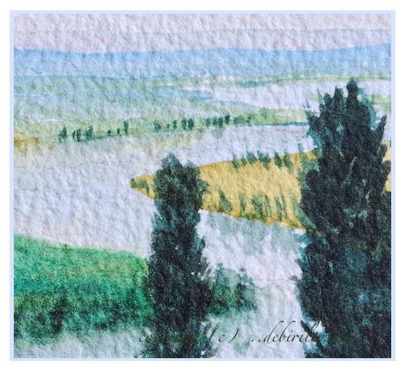 watercolor landscape river, impressionist watercolour, debiriley.com