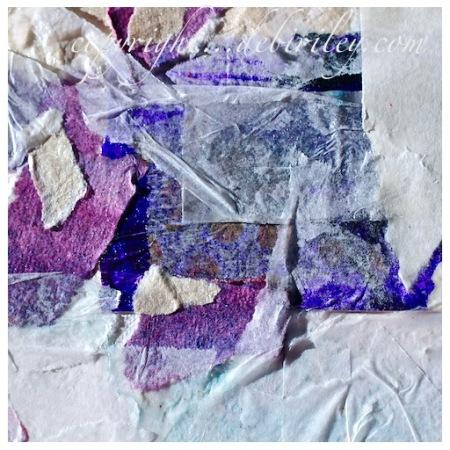 #worldwatercolormonth, creative collage, watercolor techniques, debiriley.com