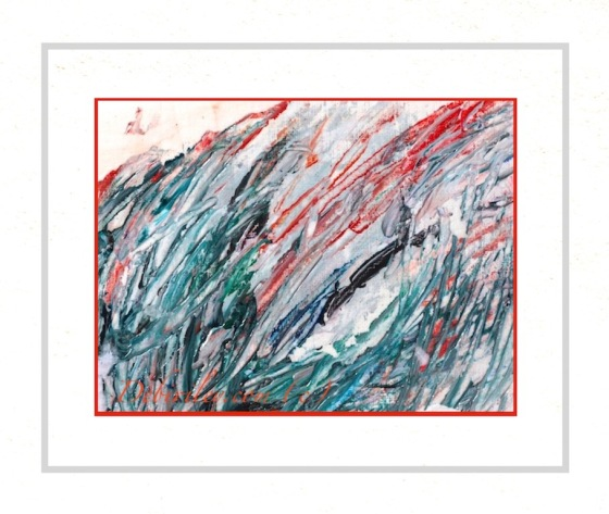 poetic interpretation, painted hill, Edwin Curran poet, abstract landscape in color, debiriley.com
