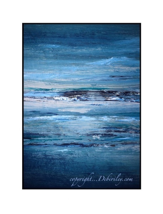 oil seascape on wood board, impressionist seascape, dramatic abstract skies in oils, painting Perth, debiriley.com