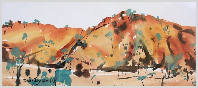 bold colorful impressionist landscape, loose and free landscape paintings, debiriley.com
