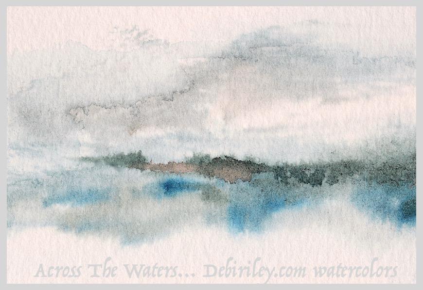 modern minimalism art, impressionist watercolor landscape, semi abstracts, debiriley.com