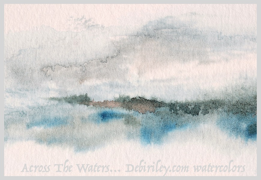 modern minimalism art, impressionist watercolor landscape, semi abstracts, debiriley.com