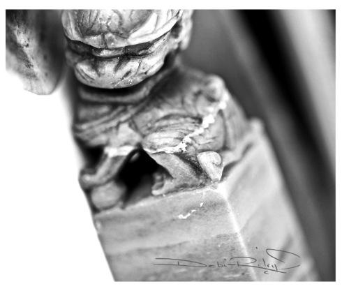 black and white ink, ink chop carved, debiriley.com