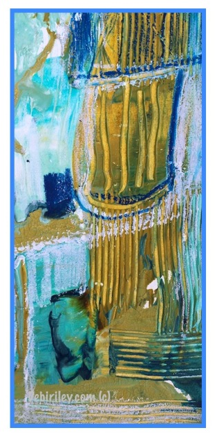 textures in abstract art, cobalt teal blue pg50, prussian blue pb27, debi riley art, debiriley.com