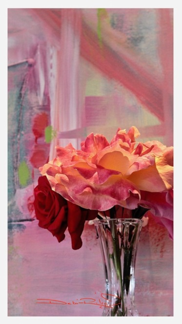 colorful abstract, bold roses from the garden, colors of the rose, debiriley.com