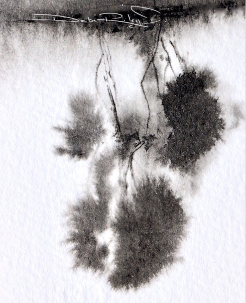 Trees: ink, light and feeling