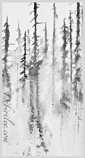 inked up trees, debiriley.com