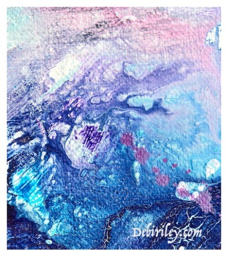 abstract oil painting, blue and lavender palette, swirling colors, debiriley.com