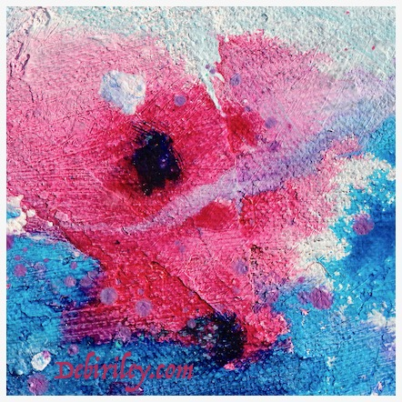 Pink Roses oil abstract, debiriley.com