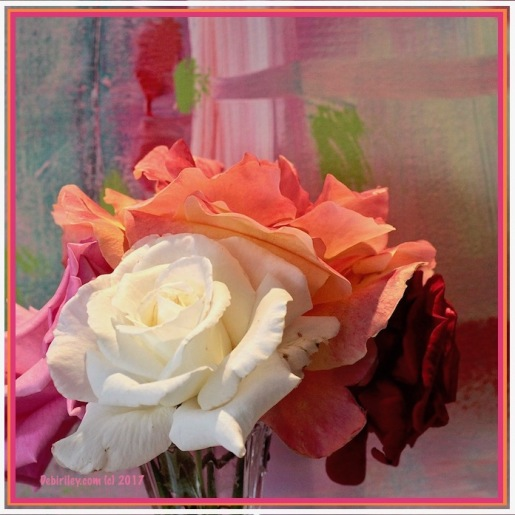colors of the rose, abstract paintings, color moves us, debiriley.com